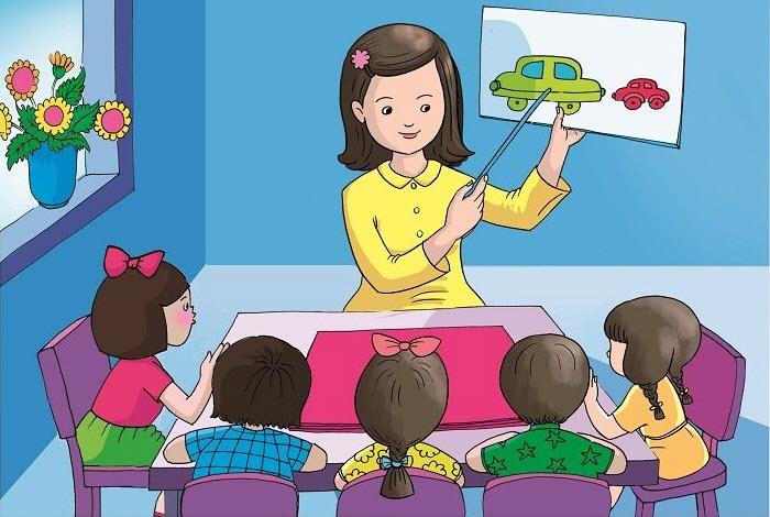 Bức tranh vẽ về chủ đề học tập