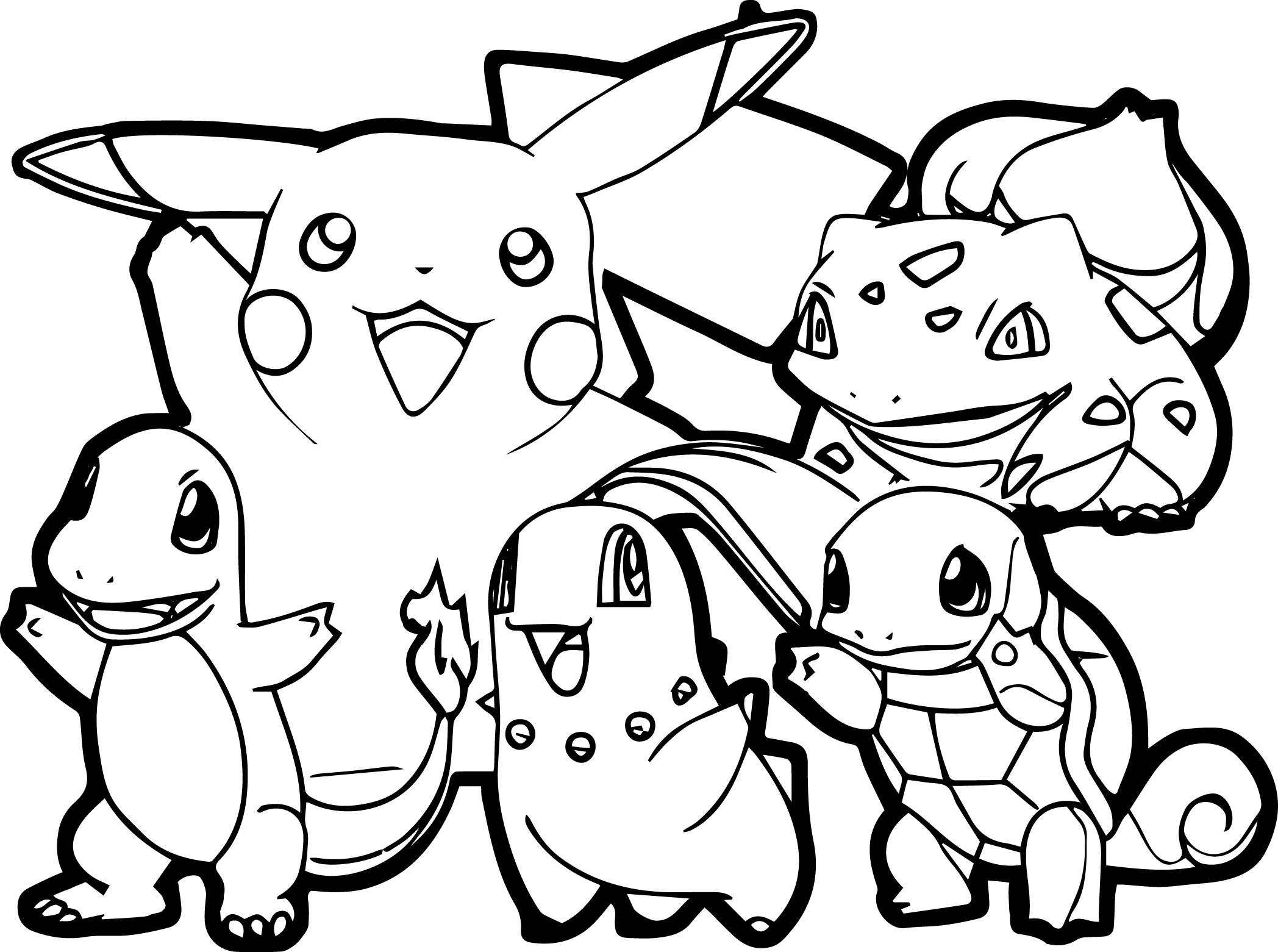 Bé tập tô màu Pokemon