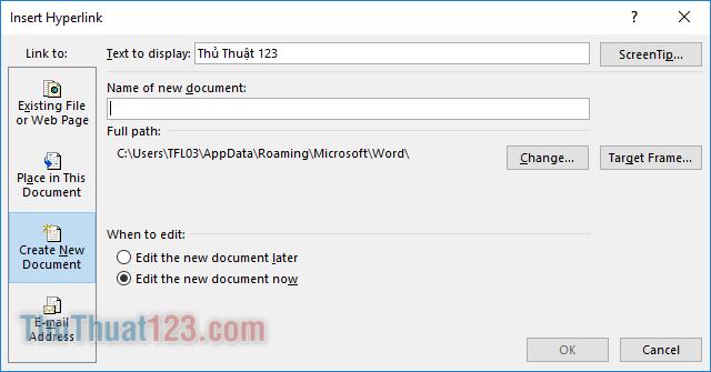 Create New Document