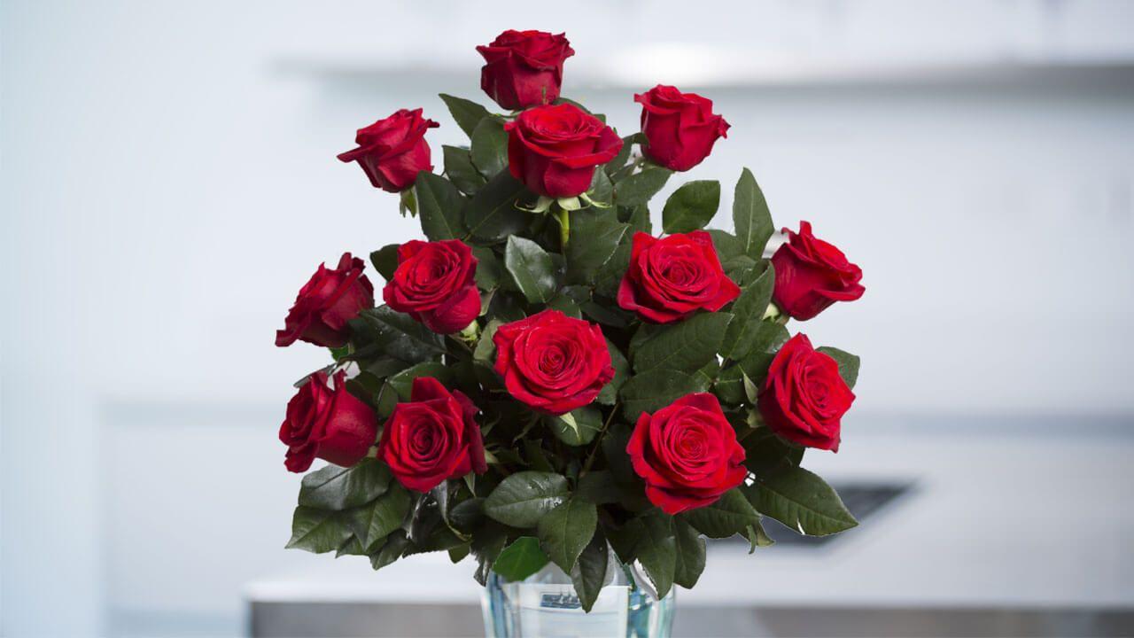 Hình ảnh lẵng hoa hồng đẹp