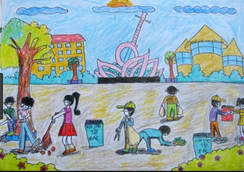 Tranh vẽ đề tài học tập lao động của học sinh