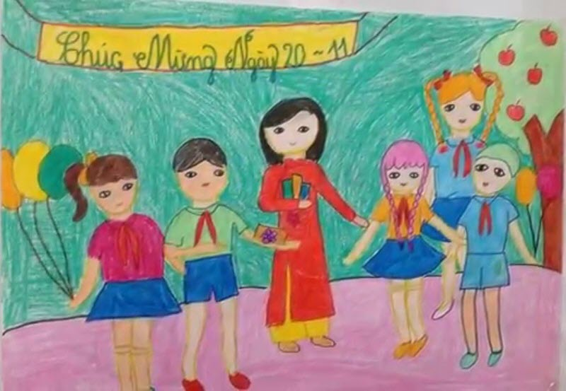Vẽ tranh đề tài học tập mỹ thuật 6