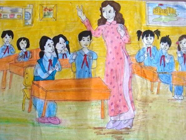 Vẽ tranh đề tài học tập