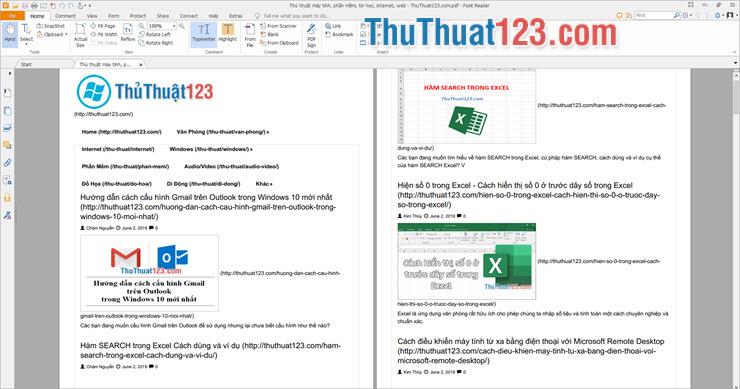 Sử dụng phần mềm để đọc file PDF