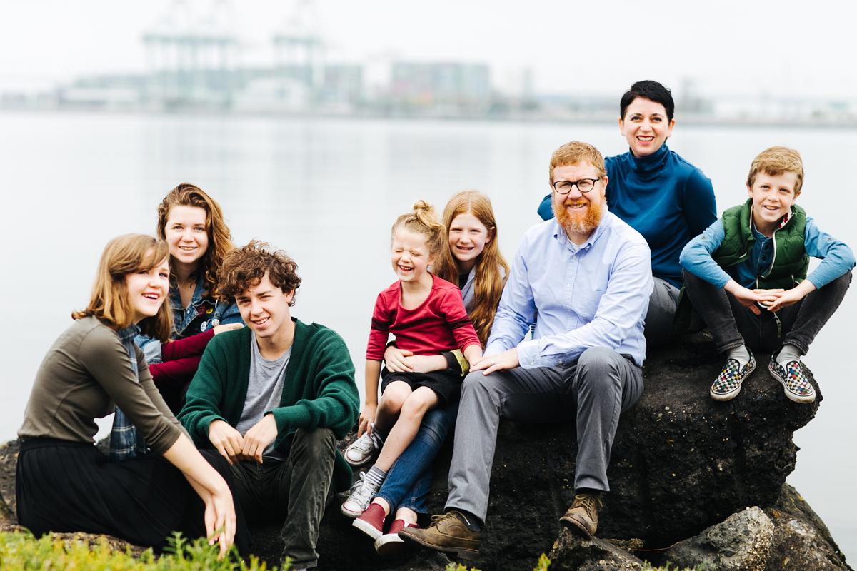 Ảnh gia đình đầm ấm bên nhau
