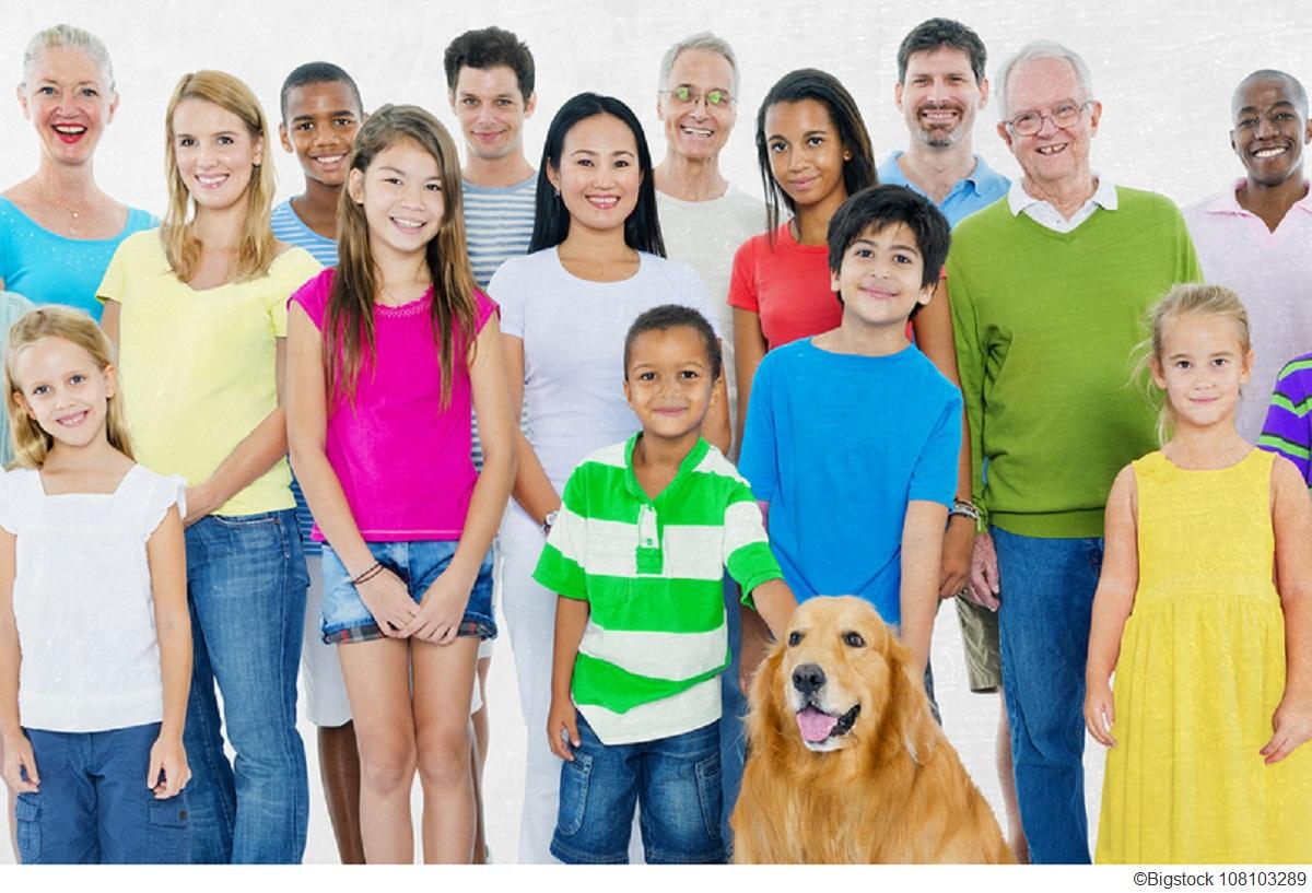 Ảnh một đại gia đình nhiều người hạnh phúc