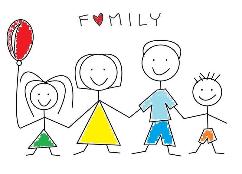 Ảnh vẽ của bé về gia đình hạnh phúc