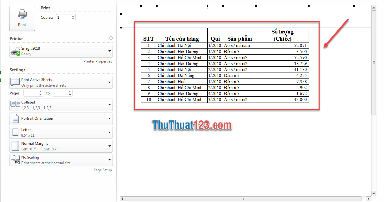 Sử dụng tổ hợp phím Ctrl và F2 để xem trước khi in