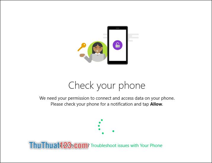 Sử dụng điện thoại để chấp nhận kết nối