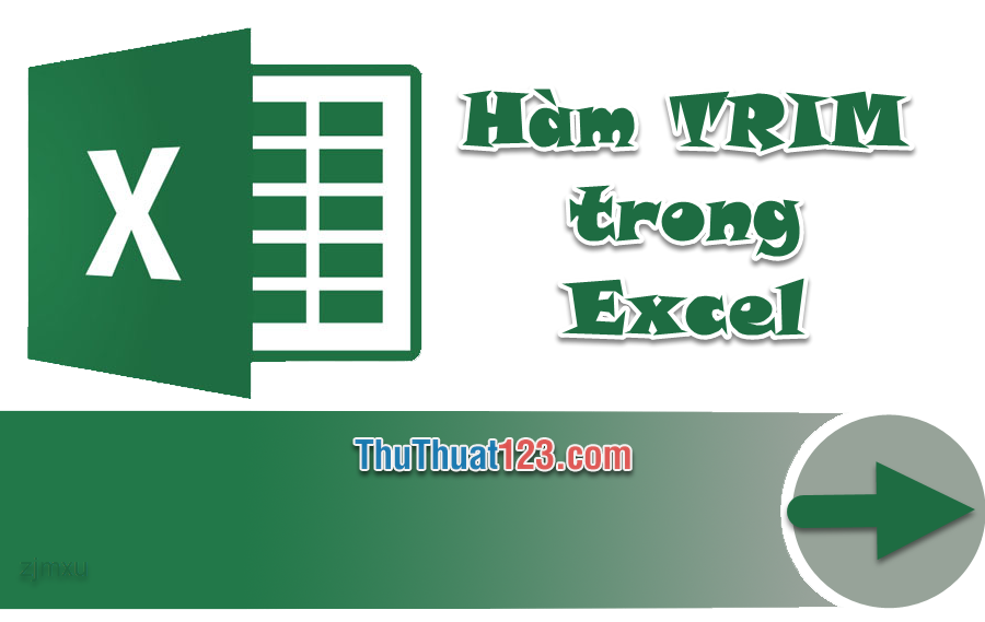 Cách xóa khoảng trắng thừa bằng hàm TRIM trong Excel