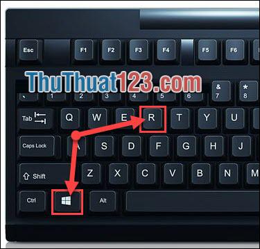 Sử dụng tổ hợp phím Windows và R