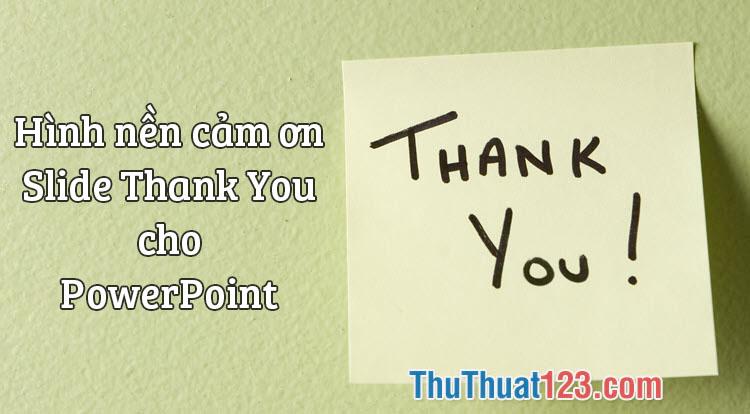 Hình nền, Slide Thank You, Cảm ơn cho bài thuyết trình PowerPoint