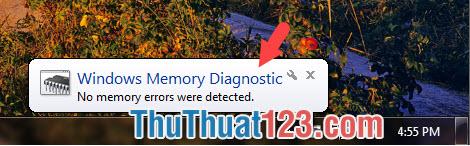Ram máy tính của bạn hiện thông báo No memory errors were detected thì là không có lỗi