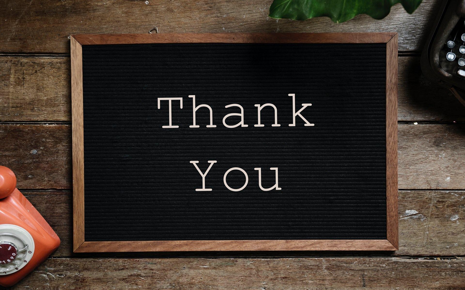 Ảnh nền cảm ơn, thank you đẹp