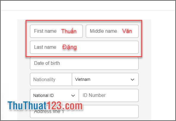 Khai báo chuẩn Việt Nam