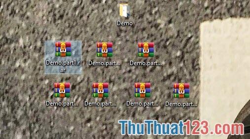 WinRAR sẽ tự động nén file và chia nhỏ chúng ra theo đúng dung lượng bạn đặt
