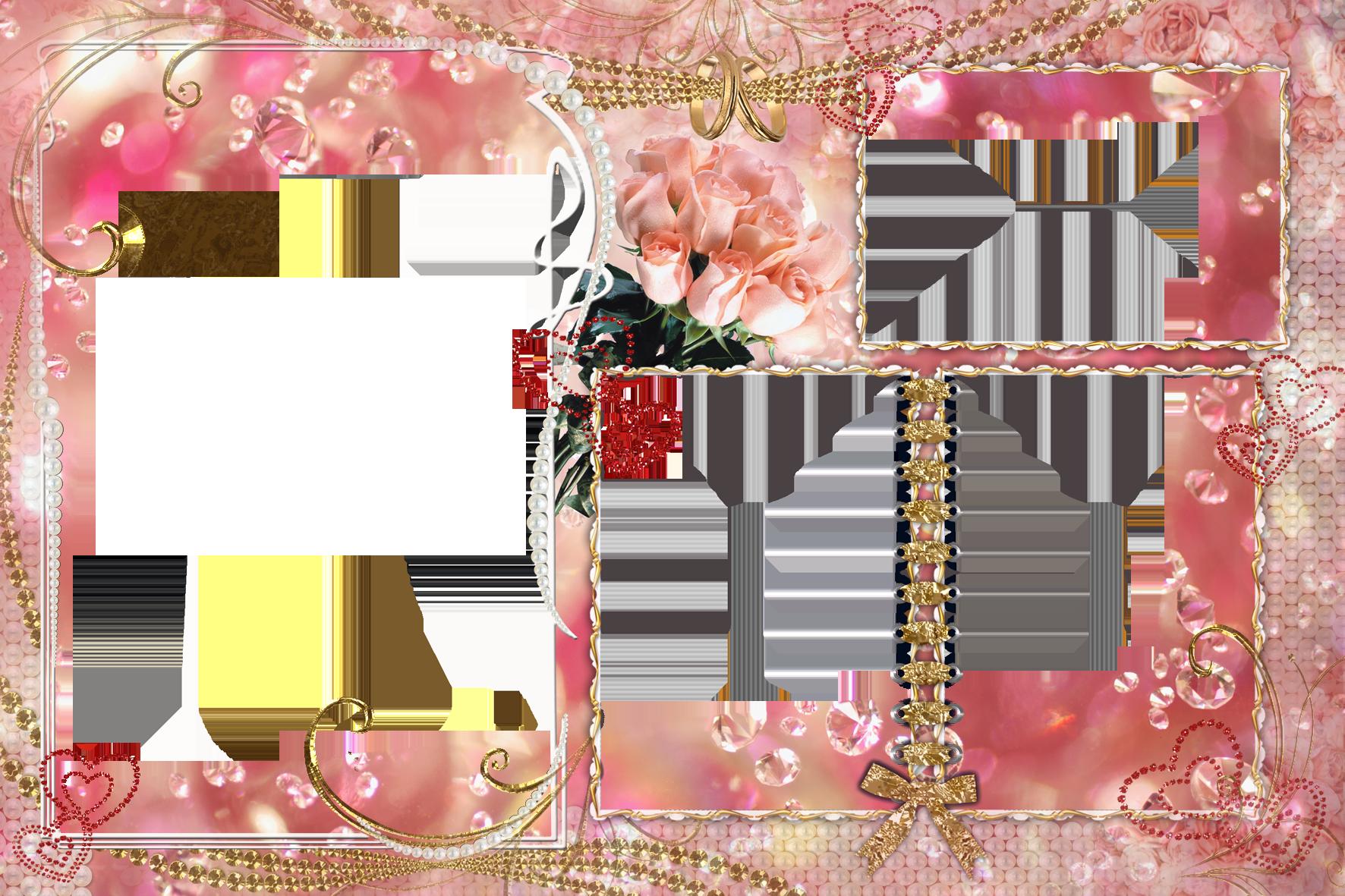 Шаблон двухсторонней открытки с юбилеем для фотошопа
