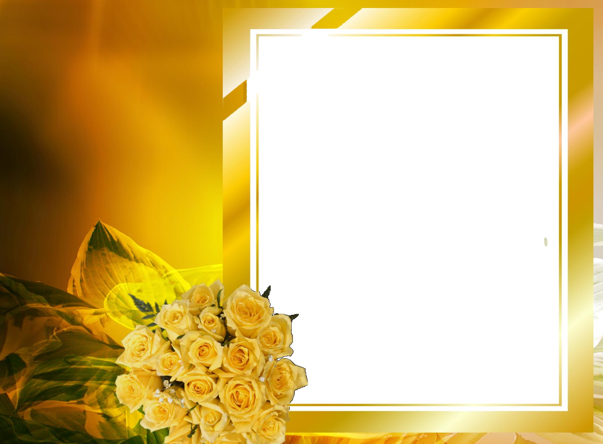 Khung hình hoa vàng Photoshop
