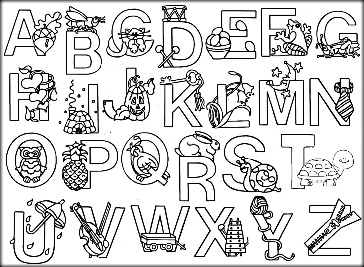 Bảng chữ cái cho bé tô màu