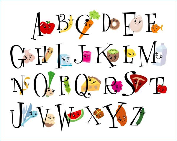 Bảng chữ cái mẫu cho bé