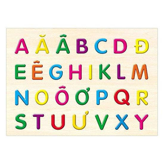 Bảng chữ cái mẫu cho trẻ