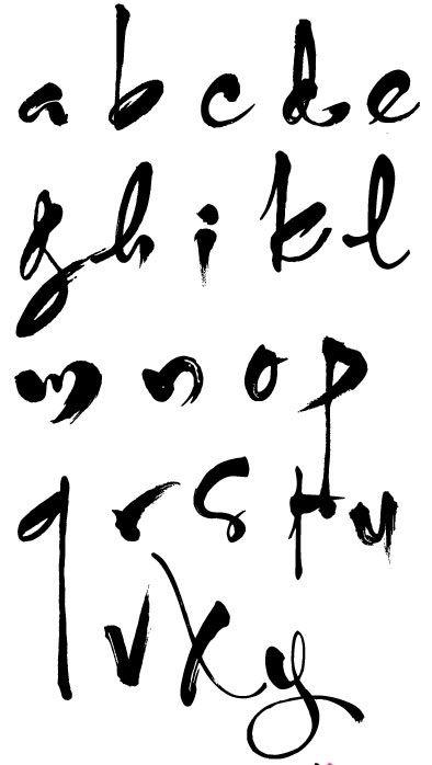 Bảng chữ cái thư pháp