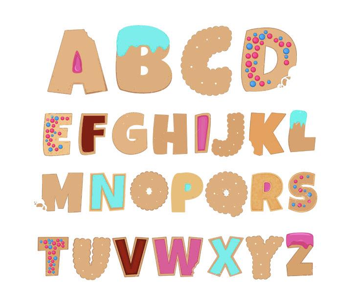Bảng chữ cái tiếng Anh dễ thương