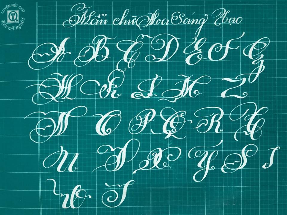 Bảng chữ cái tiếng Việt nghệ thuật