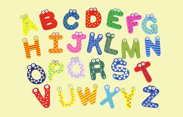 Mẫu bảng chữ cái đáng yêu