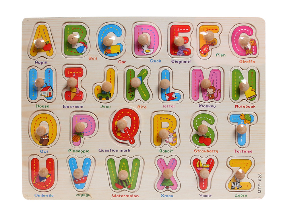 Mẫu bảng chữ cái đồ chơi