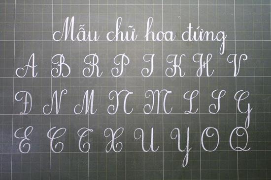 Mẫu bảng chữ cái tiếng Việt viết hoa