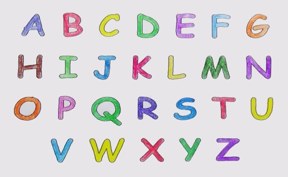 Mẫu bảng chữ cái tô màu
