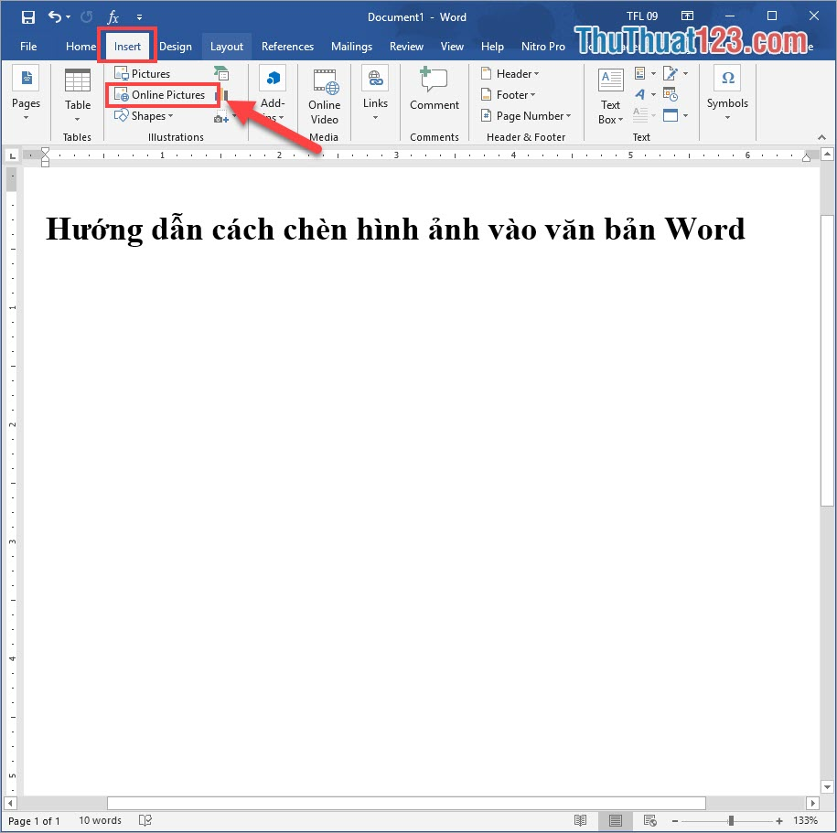 Chọn Online Pictures