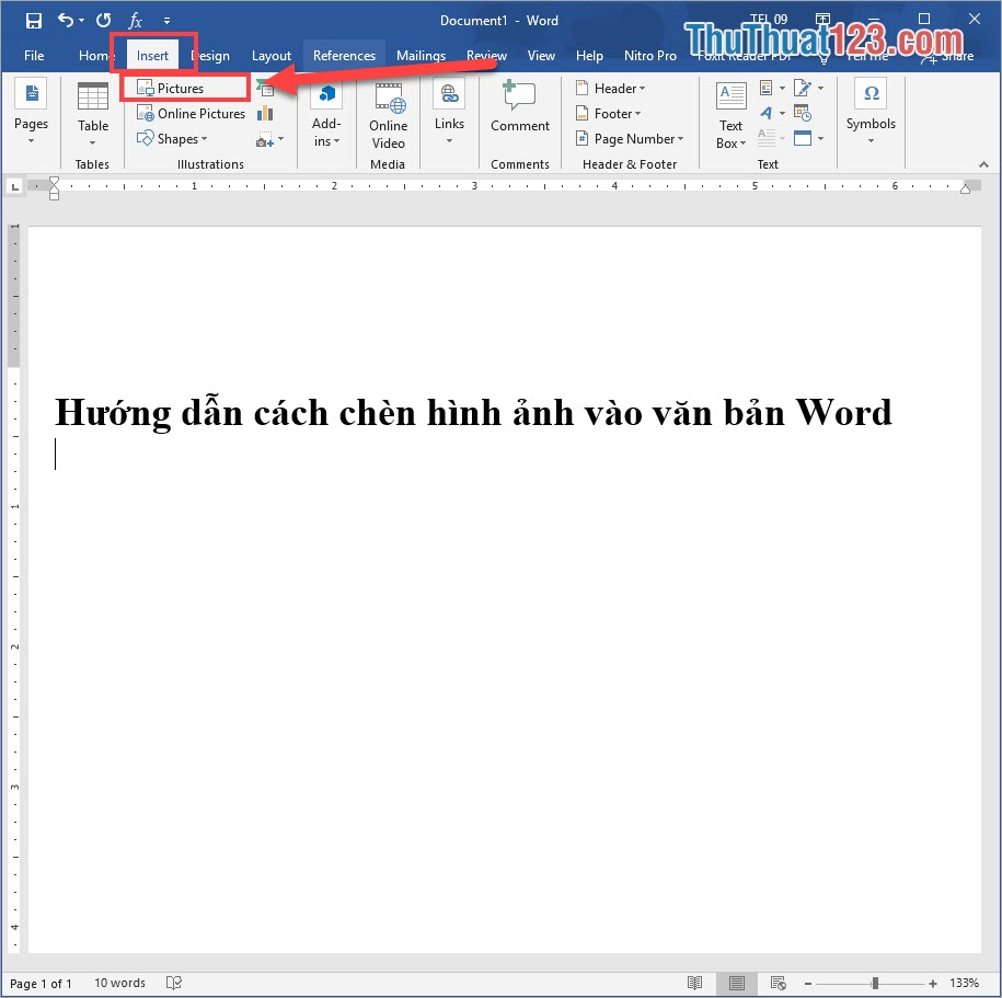 Chọn Pictures