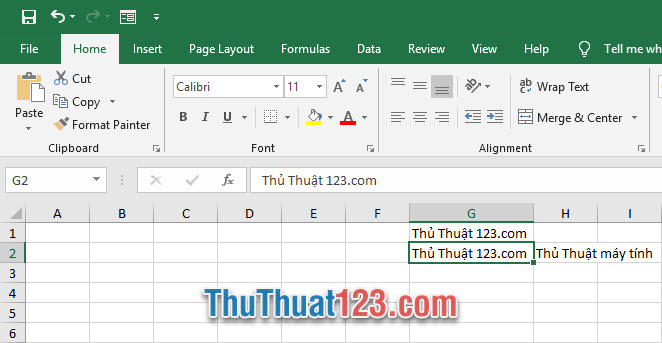 Excel tích hợp chức năng Wrap text để các bạn có thể làm cho nội dung trong một ô xuống dòng được
