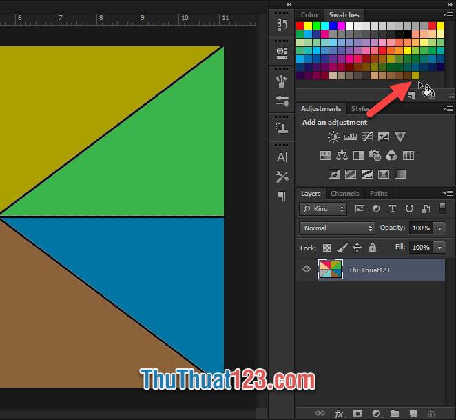 Bạn có thể lưu nhiều màu sắc khác nhau vào khay màu