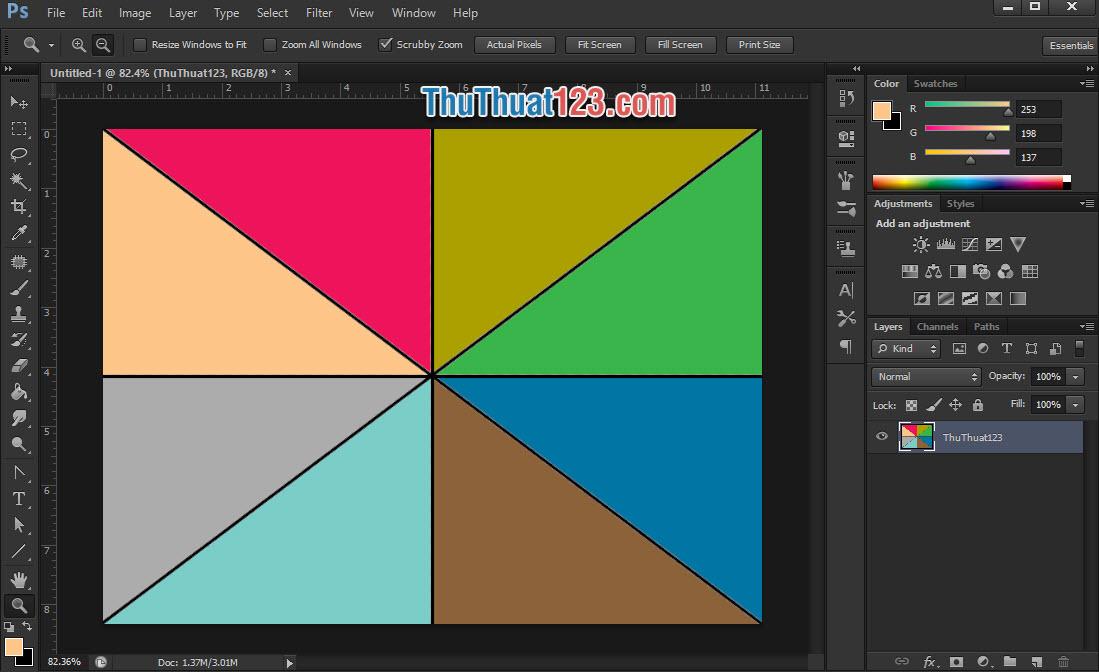 Sử dụng công cụ Color Picker